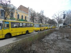 """Вкотре влада перешкоджає акції """"Вставай, Україно!"""" Тепер в Полтаві автобусна блокада"""