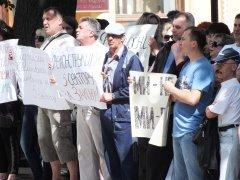 П'ятий сектор Калинівського ринку знову протестує  ФОТО