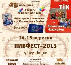В Чернівцях відбудеться Пивний фестиваль