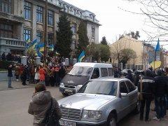 Буковинські студенти пройшли Євроходою вулицями Чернівців