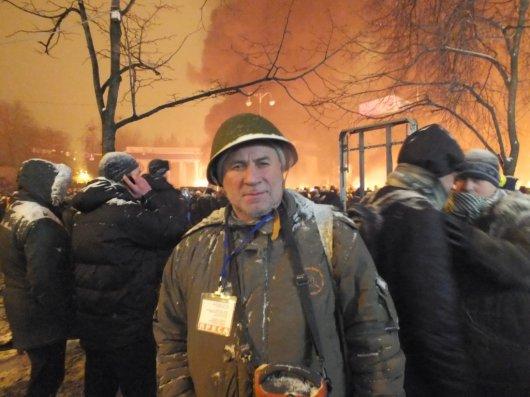 Уночі протистояння мітингувальників і беркутівців було не таким інтенсивним, як ввечері