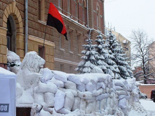 Життя за барикадами (фоторепортаж з Будинку з левами)