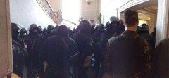 Силовики у приміщенні ВР ховалися від мітингувальників