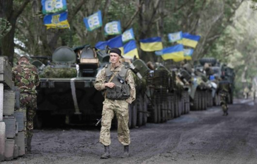 Сили АТО за добу знищили понад 100 бойовиків та 12 артустановок - РНБО