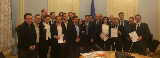 П'ять партій підписали коаліційну угоду