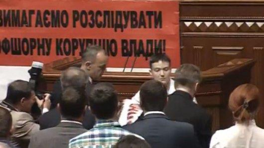 Савченко вперше виступила в Раді: Вибачте, що я жива, а ваша дитина мертва
