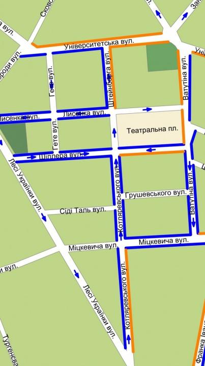 Рух на кількох вулицях Чернівців стане одностороннім