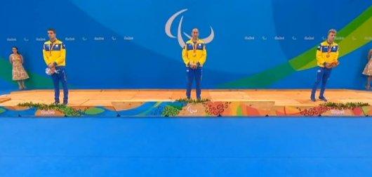 Українські спортсмени утримують третє місце в медальному заліку Паралімпіади