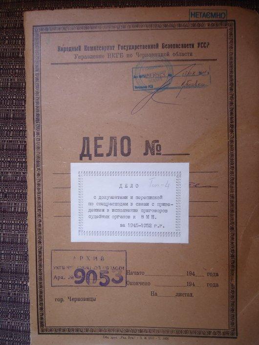 Спецгрупа ВМП, або хто розстрілював буковинців (документи)
