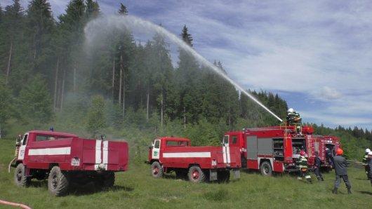 На Путильщині відбулися навчання з ліквідації пожеж у лісових масивах
