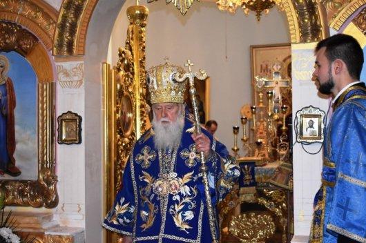 Патріарх Філарет освятив храм у столиці Буковини
