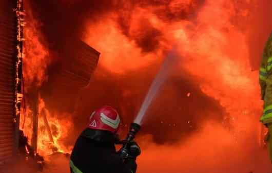 Пожежу на Калинці гасили 66 вогнеборців