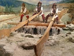Як гуцули сплавляли ліс по річках (1965 рік)