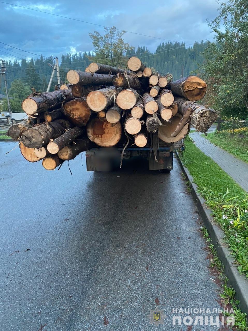За перевезення деревини без документів, у буковинця вилучили вантажівку та вантаж
